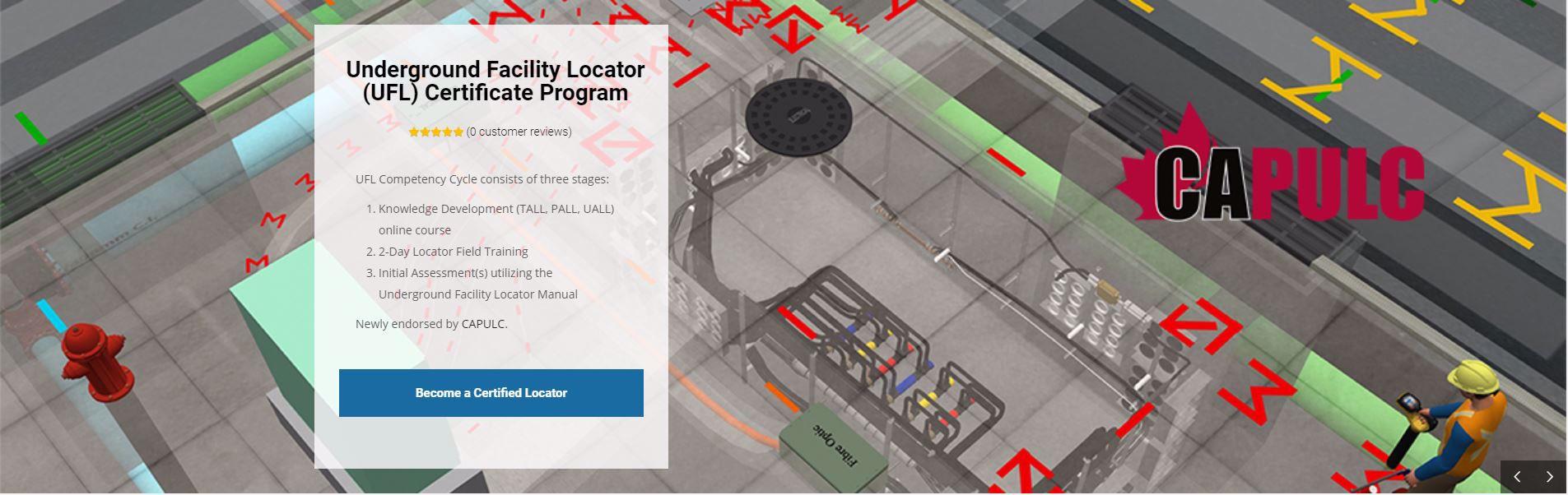 Underground Facility Locator (UFL) Certificate Program