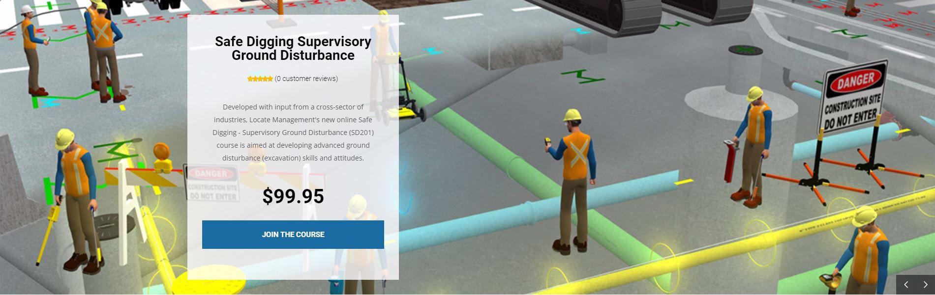 Safe Digging Supervisory Ground Disturbance Course